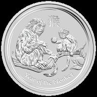 10 oz Silbermünze der Perth Prägeanstalt - Jahr des Affen - 2016
