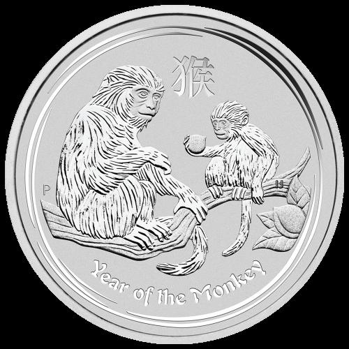 """Das Abbild der Königin Elizabeth II., mit den Worten """"Elizabeth II Australia 8 Dollars 5 oz 999 Silver 2016"""" (Elizabeth II Australien 8 Dollar 5 oz 999 Silber 2016)."""