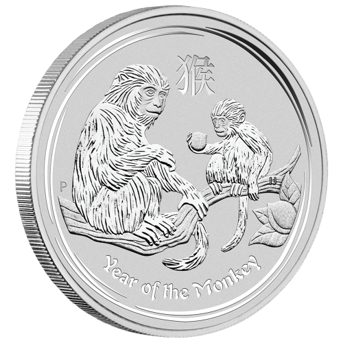 5 oz Silbermünze Perth Prägeanstalt - Jahr des Affen - 2016