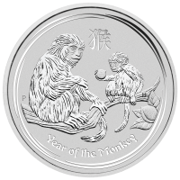 5oz 2016 Perth Mint Lunar Year of the Monkey Silver Coin