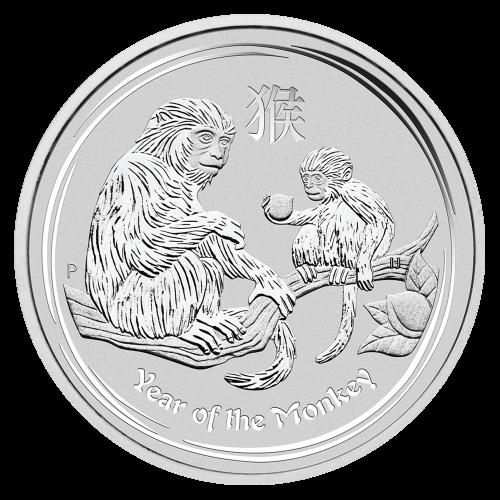 """Abbild der Königin Elisabeth II. mit den Worten """"Elizabeth II Australia 2 Dollars 2 oz 999 Silver 2016"""" (Elisabeth II. Australien 2 Dollar 2 oz 999 Silber 2016)."""