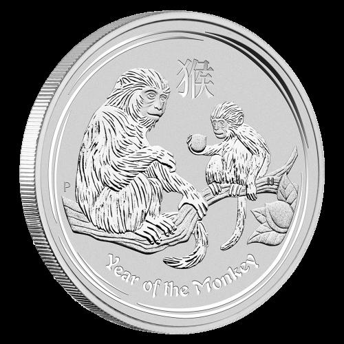 2 oz Silbermünze der Perth Prägeanstalt - Jahr des Affen - 2016