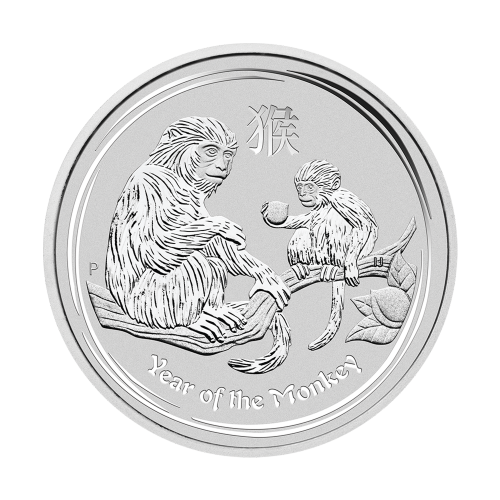 """Das Abbild der Königin Elizabeth II., mit den Worten """"Elizabeth II Australia 50 Cents 1/2 oz 999 Silver 2016"""" (Elizabeth II Australien 50 Cents 1/2 oz 999 Silber 2016)."""