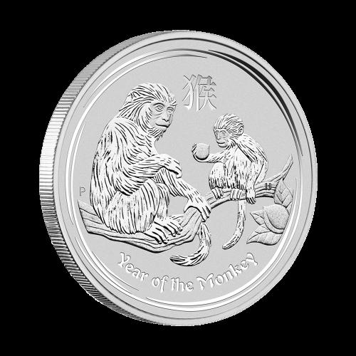 1/2 oz Silbermünze Perth Prägeanstalt - Jahr des Affen - 2016