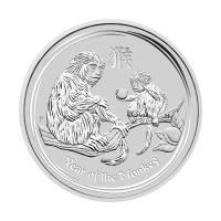 1/2 oz 2016 Perth Mint Lunar Year of the Monkey Silver Coin