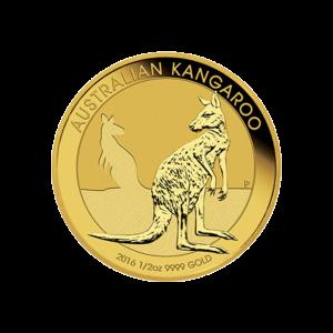 Pièce d'or Kangourou australien 2016 de 1/2 once