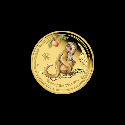 """Das Abbild der Königin Elizabeth II., mit den Worten """"Elizabeth II Australia 15 Dollars 1/10 oz 9999 Gold 2016"""" (Elizabeth II. Australien 15 Dollar 1/10 oz 9999 Gold 2016)."""