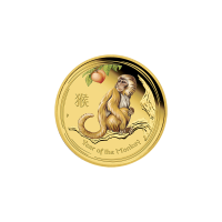 1/10 oz 2016 Perth Mint Lunar Year of the Monkey Colourized Gold Proof Coin
