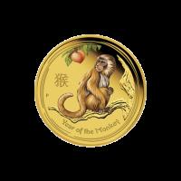 1/4 oz farbige Goldmünze - Perth Prägeanstalt - Jahr des Affen - 2016 limitiert