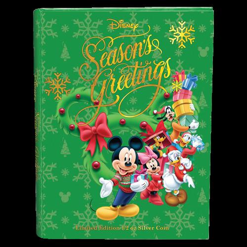 1/2 oz Silbermünze - Disney frohe Festtage - 2015 limitiert