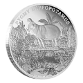 1 oz 2015 Endangered Species Pygmy Hippopotamus Silver Proof Coin