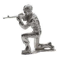 1 oz Army Men | Rifleman Silver Soldier