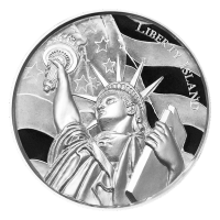 2 oz American Landmarks Series | Liberty Island Ultra High Relief Silver Round