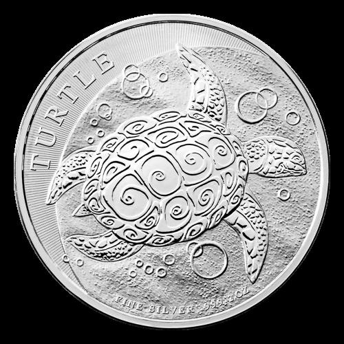 2 oz 2015 Hawksbill Turtle Silver Coin
