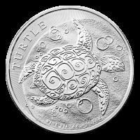 מטבע כסף Hawksbill Turtle שנת 2015 משקל שתי אונקיות