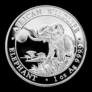 1 oz 2016 Somalian African Elephant Silver Coin