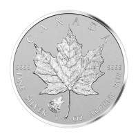 1 oz 2016 Canadian Maple Leaf Wolf Privy Zilveren Munt