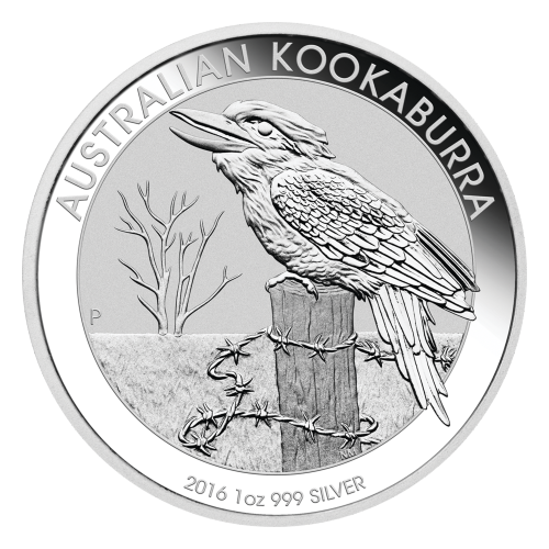 1 oz 2016 Australsk Kookaburra Sølvmynt