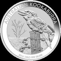 1 kg | kilo 2016 Australian Kookaburra Silver Coin