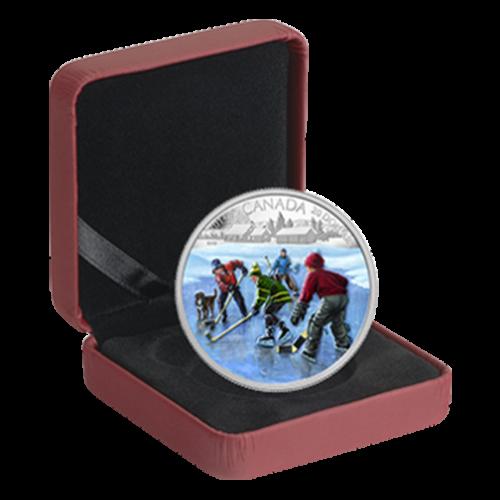 1 oz Silbermünze Pondhockey - 2014 limitiert