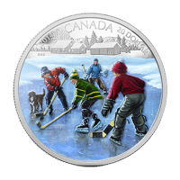 1 oz 2014 Pond Hockey Silver Proof Coin