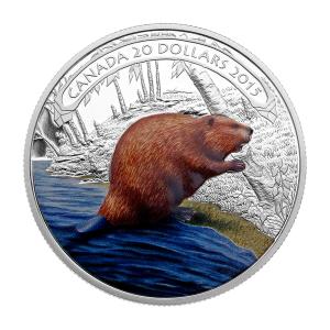 1 oz 2015 Beaver at Work Silver Proof Coin