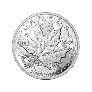 1 oz 2013 25th Anniversary of the Maple Leaf High Relief Piedfort Silver Proof Coin
