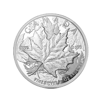 1oz 2013 25th Anniversary of the Maple Leaf High Relief Piedfort Silver Proof Coin