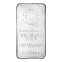 Barre d'argent de collection Engelhard de 10 onces