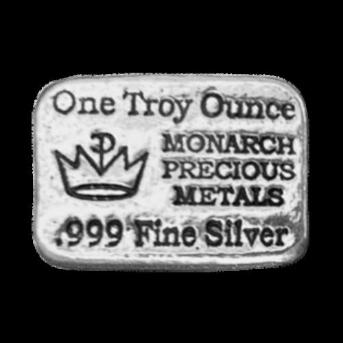 1 oz Monarch Hand Poured Silver Bar