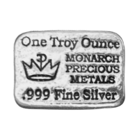 1 oz Monarch Precious Metals Hand Poured Silver Bar