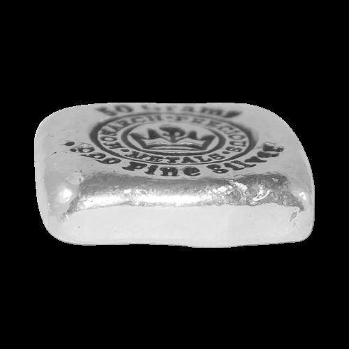 50 g Monarch Silberbarren - handgegossen