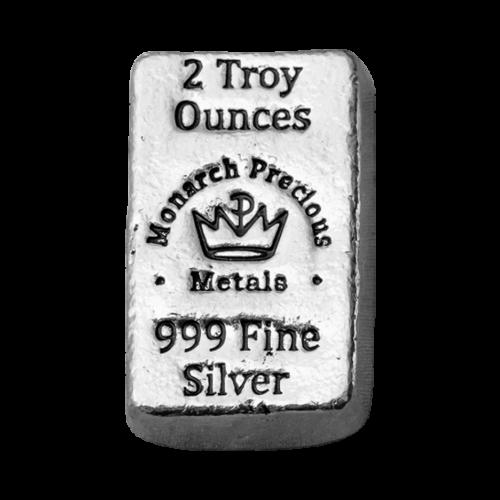 2 oz Monarch Hand Poured Silver Bar