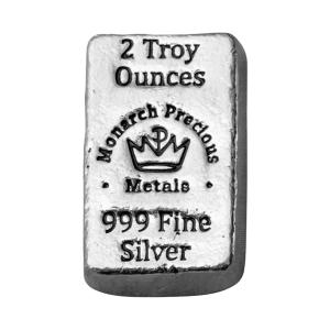 2 oz Monarch Precious Metals Hand Poured Silver Bar