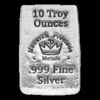 10 oz Monarch Silberbarren - handgegossen