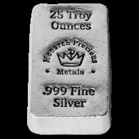 25 oz Monarch Silberbarren - handgegossen