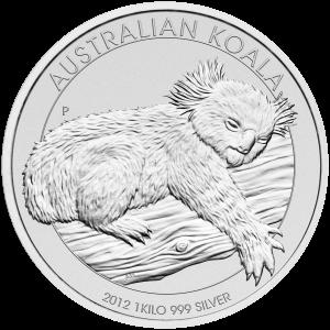 1 kg | kilo 2012 Australian Koala Silver Coin