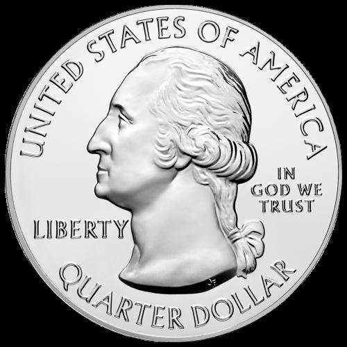 """Ein britischer General, wie er mit der Abgabe seines Schwertes kapituliert und die Worte """"Saratoga New York British Surrender 1777 2015 E Pluribus Unum"""" (Saratoga New York britische Kapitulation 1777 2015 E Pluribus Unum)."""