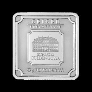 20 gram Geiger Edelmetalle Silver Bar