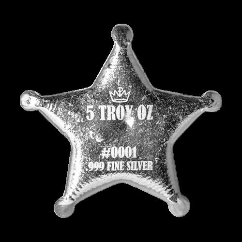 """Westerndesign mit den Worten """"Sheriff 999 Silver"""" (Sheriff 999 Silber)"""