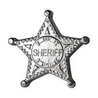 5 oz Monarch Handgegoten Sheriff Badge