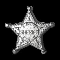 5 oz Sheriff Abzeichen - Monarch - handgegossen