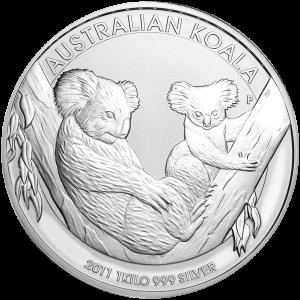 1 kg | Pièce d'argent Koala australien en kilo 2011