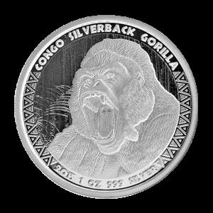 1 oz 2015 Congo Silverback Gorilla Silver Coin