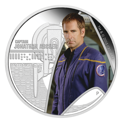 1 oz 2015 Star Trek Captain Jonathan Archer Silver Proof Coin