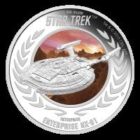 1 oz Silbermünze - Star Trek USS Enterprise NX-01 - limitiert 2015