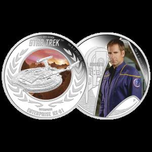 Set of 2 x 1 oz 2015 Star Trek: Enterprise Silver Proof Coins