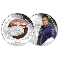 Set of 2 x 1 oz 2015 Star Trek: Enterprise Silver Proof Coins