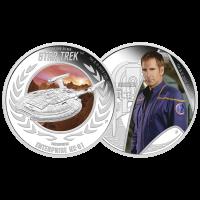 Satz mit 2 x 1 oz Silbermünzen - Star Trek: Enterprise - limitiert 2015