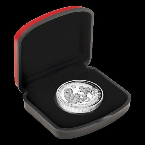 1 oz Silbermünzen der Perth Prägeanstalt - Jahr des Affen Hochrelief - 2016